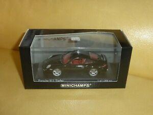 1/43 Minichamps * Porsche 911 997 Turbo * 2006 * Noir Black Schwarz * 400 065200