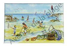 Magnet la pêche à pied, décoration marine, bord de mer, déco frigo aimant neuf