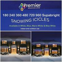 Christmas Xmas Snowing Icicles Lights 180 - 960 LED  Indoor Outdoor House Tree