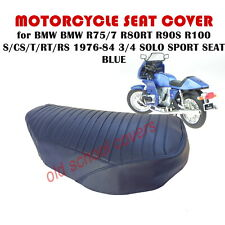 MOTORCYCLE SEAT COVER BMW R75/7 R80RT R90S R100 S/CS/T/RT/RS 77-83 3/4 BLUE SOLO