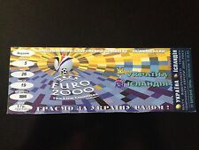 TICKET MATCH CL EURO 2000 UKRAINE - ICELAND ISLANDIA 1999