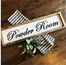 POWDER ROOM Rustic LARGE Wood Sign Fixer Upper Farmhouse Primitive Handmade