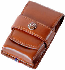Dupont Ligne 2, Slim 7, MaxIjet, Initial, Ligne 8 and Gatsby Brown Leather Case
