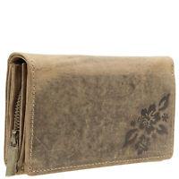 RFID Damen Geldbörse Geldbeutel echt Leder Portemonnaie Kartenhalter Handtasche