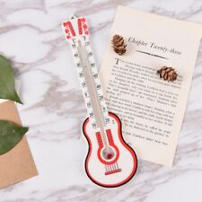Guitar Shape Window Greenhouse Home Creative Thermometer Garden Office Wall