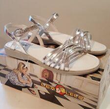 Lea Lelo Girls Silver Sandals Shoes EU 35 UK 2.5 BNIB RRP £41