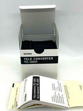 New SIGMA TC-2001 2x Teleconverter for Canon EF