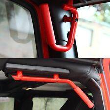 4Pcs Red Front & Rear Grab Handle Bars For 2007-2017 Jeep Wrangler JK 4Door