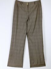 Carlisle Trouser Career Pants size 8 Wool Silk Blend Black Plaid Fully Lined