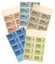 5 Blocks MNH Stamps, 1933 Moyen-Congo French Middle-Congo Mindouli Djoue Rubber