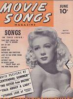 JUNE 1946 MOVIE SONGS- vintage music magazine - BETTY HUTTON