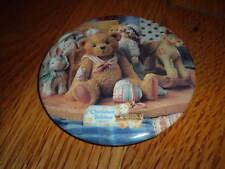 Vintage CHERISHED TEDDIES Enesco Teddy Bear Button/Pin