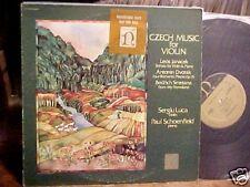SERGIU LUCA PAUL SCHOENFIELD LP CZECH MUSIC FOR VIOLIN