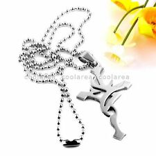 Punk Fashion Mens Stainless Steel Cross Pendant Chain Necklace Jewelry 19""