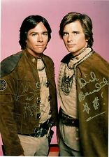 Dirk Benedict & Richard Hatch of Battlestar Galactica  8 x 10 Autograph Reprint