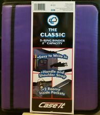 """Case-it The Classic Purple 3-Ring Binder 2"""" Capacity NWD"""