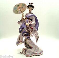 Bradford Exchange Silken Whispers MAIDEN OF SERENITY Geisha Porcelain Figurine