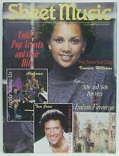 Pop Artists Hits Sheet Music Magazine Vanessa Williams Tom Jones March/April '95