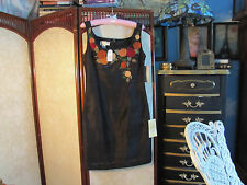 PAPELL BOUTIQUE Evening black 100% silk dress size 6 $218.00
