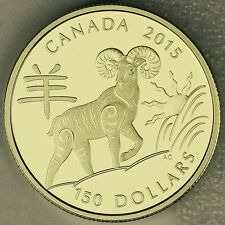 2015 $150 Year of the Sheep 18-karat Gold Proof Coin in Asian Inspired Case