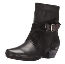 2*27 NEW Miz Mooz Elwood Black Leather/Suede Ankle Boots Women's Size 37