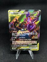 Pokemon Naganadel & Guzzlord GX 223/236 Holo SM Cosmic Eclipse Full Art Mint