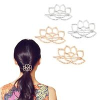 Women Accessories Vintage Lotus Flower Barrette Hairpin Hair Clip Headwear