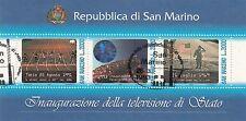 SAN MARINO francobolli usati 1993 foglietto INAUG. TELEVISIONE  ANNULLO FDC