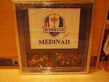 Signé José Maria Olazabal signé pin drapeau encadrée affichage -2012 Ryder Cup