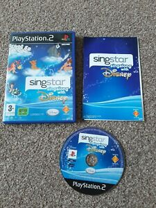 PLAYSTATION 2 - PS2 - SINGSTAR SINGALONG WITH DISNEY - COMPLETE WITH MANUAL
