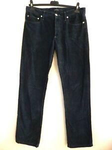 A.P.C Street Fleurus Paris - Velvet Pants Anthracite - Size W31 Either 41fr