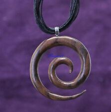 Maori Schmuck  Spiral Anhänger Holz   6cm Holzschmuck Anhänger Kette Schmuck