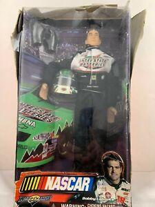 "Bobby Labonte #18 NASCAR 12"" Action Figure with Helmet"