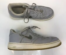 Nike Men's Wolf Gray Air Force 1 Lace Up Athletic Basketball Shoes Sz 12
