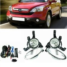 for HONDA CRV CR-V 2007 2008 2009 Clear Bumper Fog Lights + Switch Driving Lamp