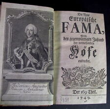 - antikes Buch 1749 -  die Neue Europäische FAMA