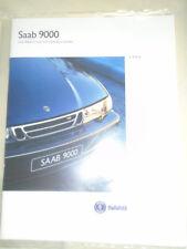 Saab 9000 range brochure 1995 UK market