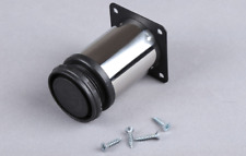 Stainless Furniture Extender Leg Plinth- Sofa Couch Table Round Black Extension