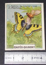 CHROMO 1936 CAFES GILBERT PAPILLONS BUTTERFLY MACHAON SPHINX LAURIER ROSE