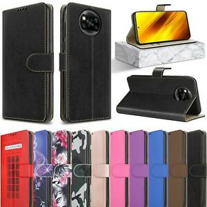 For Xiaomi Poco X3 Pro Case, Magnetic Flip Leather Wallet Stand Phone Cover