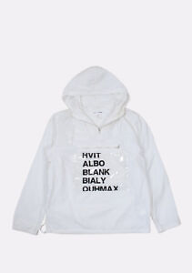 Genuine Comme Des Garcons Thin Hooded White Men Anorak Jacket size M