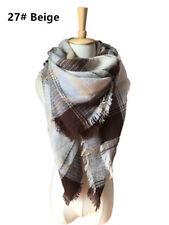 Women Warm Blanket Oversized Tartan Scarf Wrap Shawl Plaid Cozy Checked Pashmina