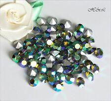 Swarovski Vintage Olivine AB 1100 Crystal pointed Chatons Silver Foil SF Olive
