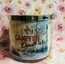 Bath & body works Large 3 wick Scented Candles New Campfire Donut