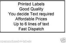 500 SELF ADHESIVE PERSONALISED LABELS YOU DECIDE TEXT YOU REQUIRE