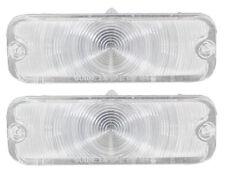 1964 64 Chevelle Malibu El Camino Parking Light Lens Clear Pair SS Arcadian