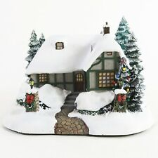 2002 Hawthorne Village Thomas Kinkade Christmas Cottage 79756 Lighted House