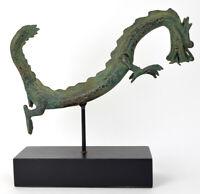 Skulptur / Figur eines Drachen, Bronze patiniert, Asien, 32cm hoch