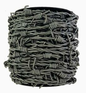 Grey /steel look Leather fake Barbed Wire
