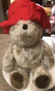 Vintage Paddington Teddy Bear Plush Red Hat  No Clothes